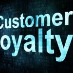 Marketing concept: pixelated words Customer loyalty on digital — Stock Photo