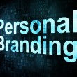 Marketing concept: pixelated words Personal Branding — Stock Photo