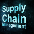 Marketing concept: pixelated words Supply Chain Management — Stock Photo