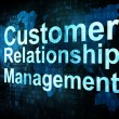 Marketing concept: words Customer Relationship Management - Foto de Stock