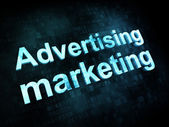 Marketing concept: pixelated words Advertising marketing — Stock Photo