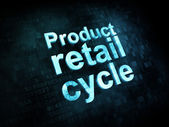 Marketing concept: pixelated words Product retail cycle — Stock Photo