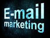 Marketing concept: pixelated words Email marketing on digital — Foto de Stock