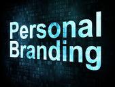 Marketing concept: pixelated words Personal Branding — Stock Photo
