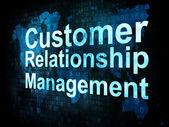 Marketing concept: words Customer Relationship Management — Stock Photo