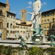 Fontana del Nettuno (Neptun fontain) at Palazzo Vecchio, Florenc — Stock Photo