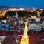 Zadar peninsula calle larga panorama in evening — Stock Photo