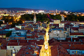 Zadar peninsula calle larga panorama in evening — Stock Photo