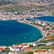 Island of Pag bay aerial view — Stock Photo #11641331