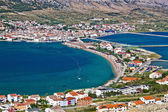 Island of Pag bay aerial view — Stock Photo