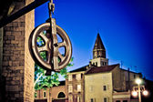 Five wells square pulley in Zadar — Stock Photo