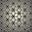 Vector de stock : Metallic pattern on islamic motif