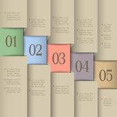 Modello di design creativo — Vettoriale Stock