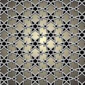 Metallic pattern on islamic motif — Vettoriale Stock
