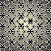 Modèle métallique sur motif islamique — Vecteur