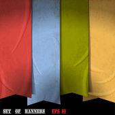 Retro ribbons — Stock Vector