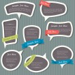 Speech bubbles in vintage style — Stock Vector