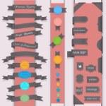 vector set ontwerpelementen in retro stijl — Stockvector