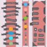 Vektor set Design-Elemente im retro-Stil — Stockvektor