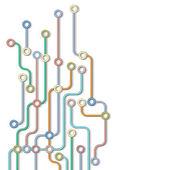 Abstract subway map — Stock Vector