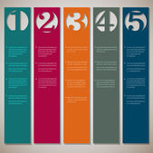 Vertical paper numbered banners — Stock Vector