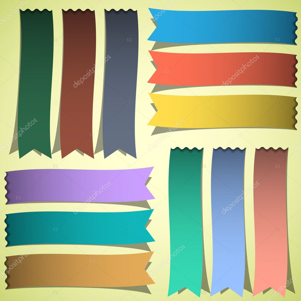 Vector set of bookmarks or ribbons  Stock Vector #11101605