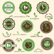 Collection of organic labels and icons — Stock Vector #11168591
