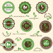 Royalty-Free Stock Vector Image: Collection of organic labels and icons