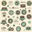 Collection of coffee labels and elements — Imagen vectorial