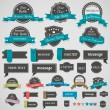 Collection of vintage labels and ribbons — Vector de stock