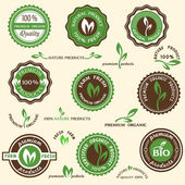 Collection of organic labels and icons — Stock Vector