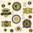 Beer badges and labels in vintage style - Stock Vector