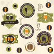 Beer badges and labels in vintage style — Stock Vector