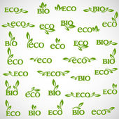 Big collection of vector Eco-icons — Stock Vector