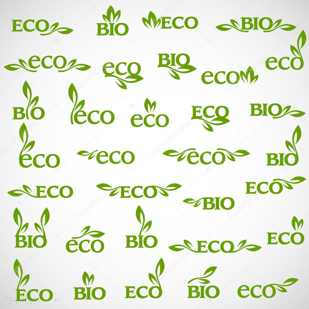 Big collection of vector Eco-icons — Stock Vector #11234701