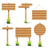 Vecteur série de panneaux en bois — Vecteur