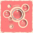 Pink web design bubbles in vintage style — Vector de stock