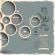 Retro design bubbles on grunge background — Imagen vectorial