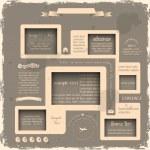 Web design in Retro style — Stock Vector