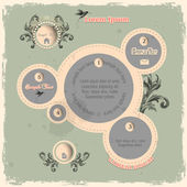 Web design bubbles in vintage style — Stock Vector