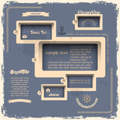 Plantilla de diseño web en estilo retro — Vector de stock