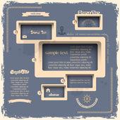 Web ontwerpsjabloon in retro stijl — Stockvector