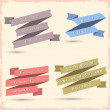 Vector set of vintage ribbons for design — Stock Vector #11593589