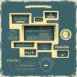 Web design in Retro style — Vecteur #11593592