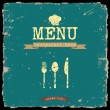 Vector restaurant menu. Retro style design — Stock Vector