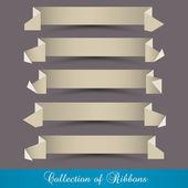 Vector conjunto de origami papel cintas-banners — Vector de stock