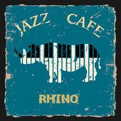 Rinoceronte musical. vetor conceitual — Vetor de Stock