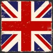 Stock Vector: Vector grunge British flag