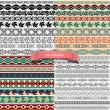 Big set of of vintage borders for design — Stock Vector #11959908
