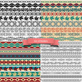 Big set of of vintage borders for design — Stock Vector